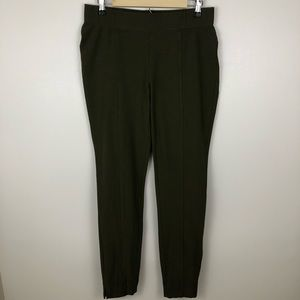 Eileen Fisher Olive Green Pull On Stretch Pants